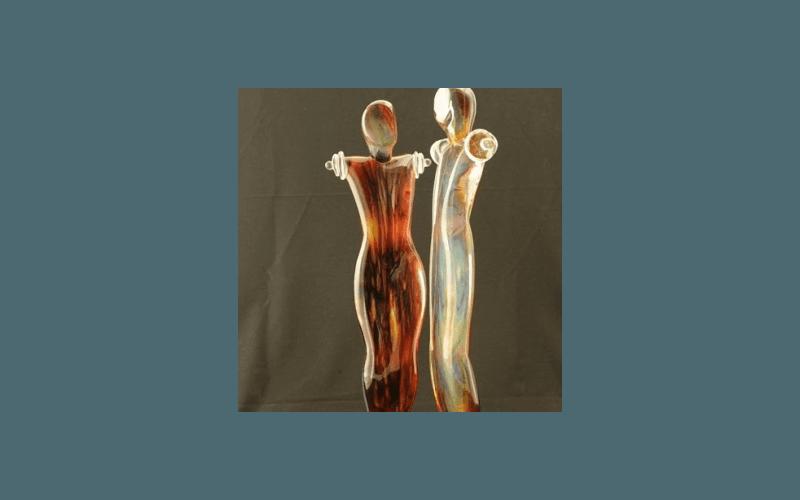 figure in vetro soffiato