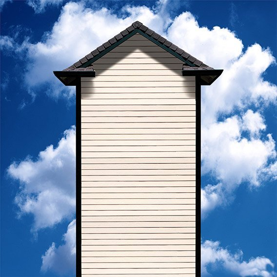 house with roof and sky