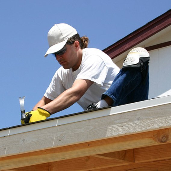 Tradesman providing roof repair in Newcastle