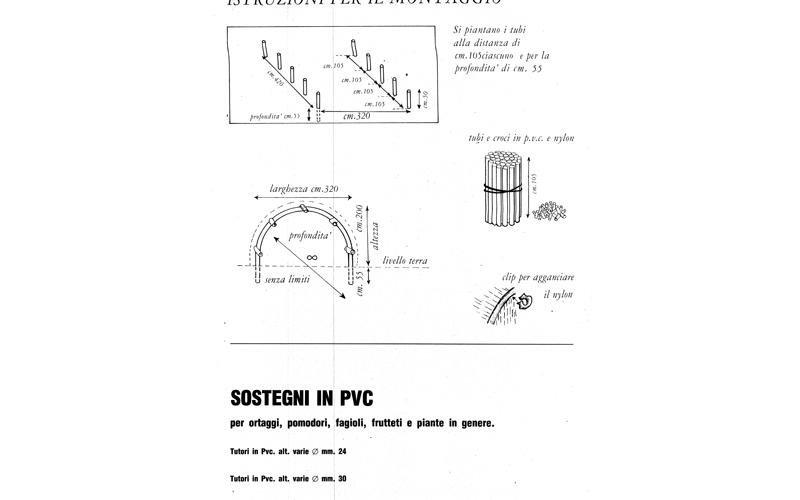 Sostegni in PVC