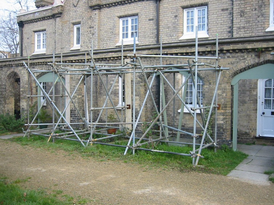 building restoration in process