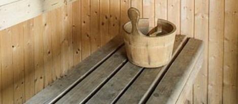 dettaglio di una sauna