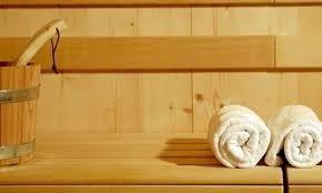 asciugamano in sauna