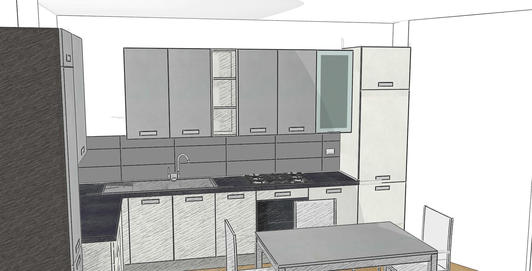 Cucina moderna angolare a rovereto - Progetto cucina angolare ...