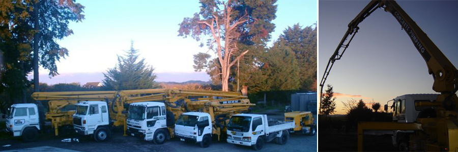Concrete pumping trucks in Hawkes Bay