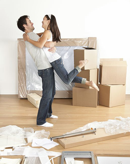 Couple happy with our furniture removal services