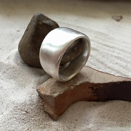 Ring being given a shape