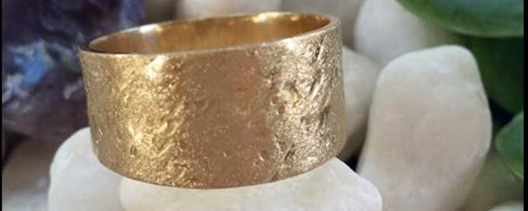 Gold Ring in Display