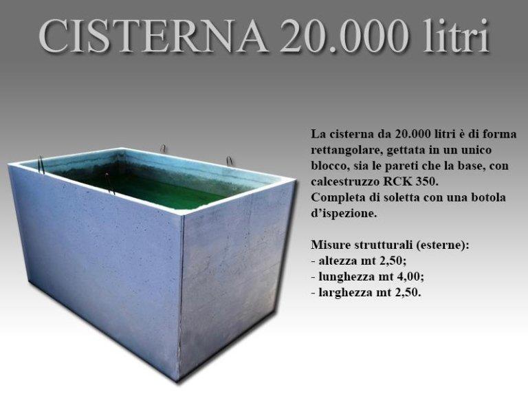 cisterna ventimila litri