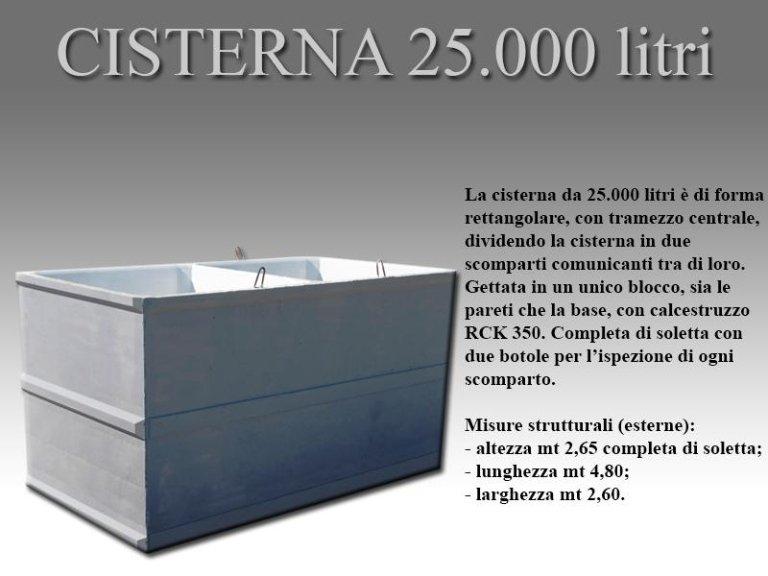 cisterna venticinquemila litri