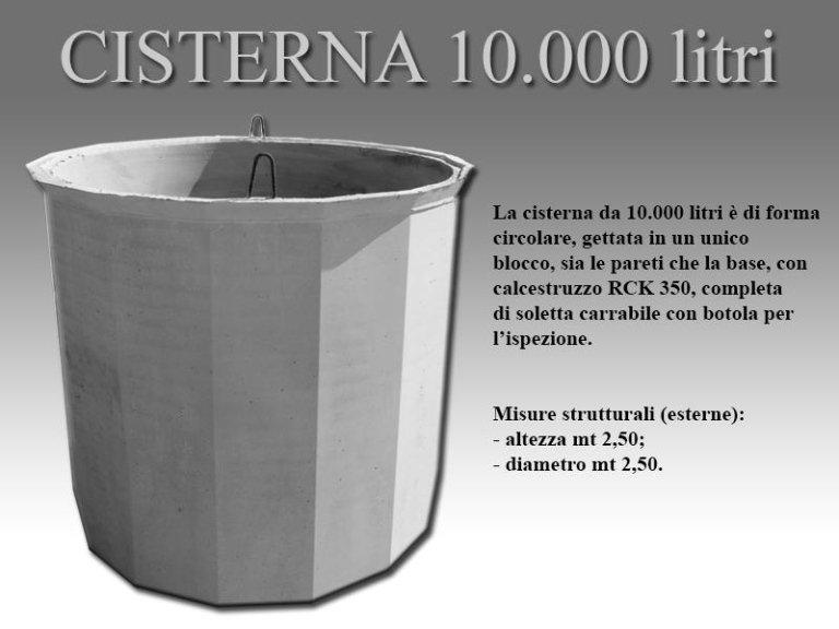 cisterna diecimila litri