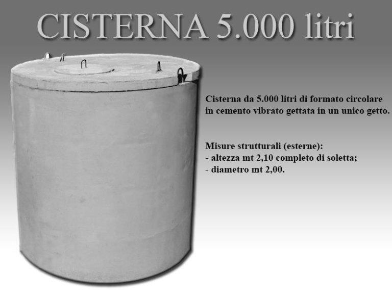 cisterna cinquemila litri