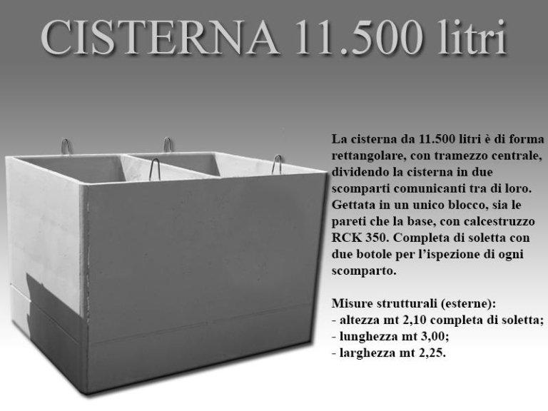 cisterna undicimila cinquecento litri