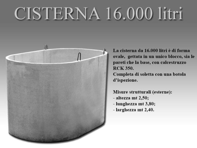 cisterna sedicimila litri