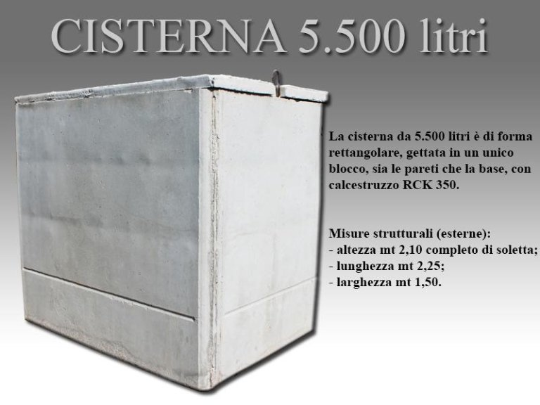 cisterna cinquemilacinquecento litri