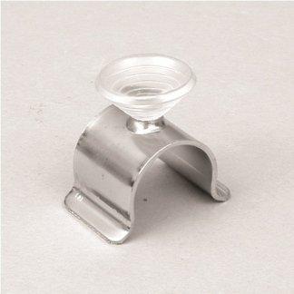 Supporto per cristallo con ventosa per tubo d.25-32 mm