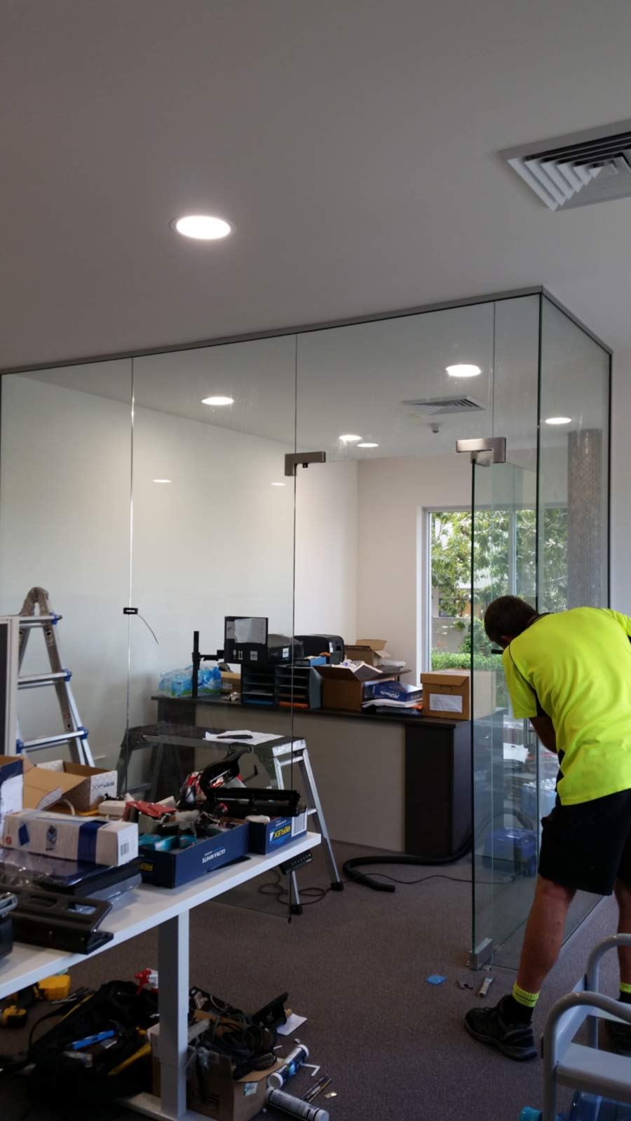 office glass installation