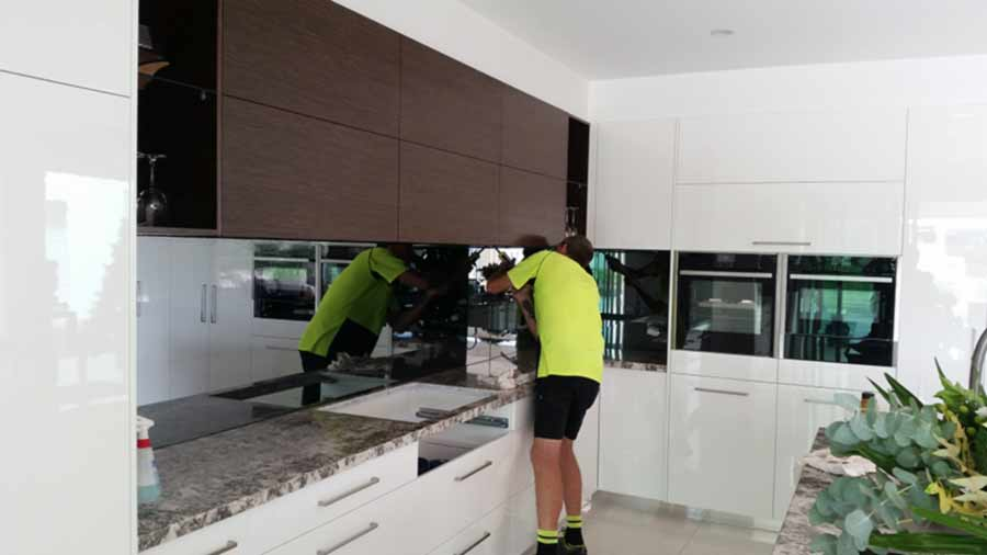 glass mirror splashback