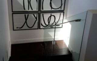 custom stair glass