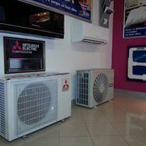 due impianti di climatizzazione a terra