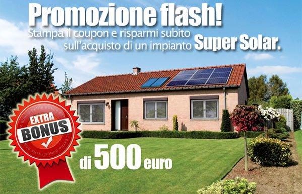volantino promozione per impianto fotovoltaico airsistem