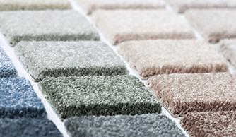 campioni di materiale per tappetini