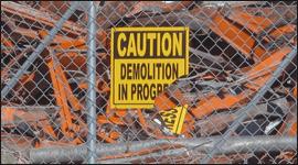demolizioni di opere ferroviarie, demolizione di armamento ferroviario