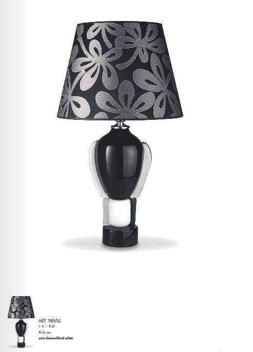 Lampada da tavolo Murano Black White