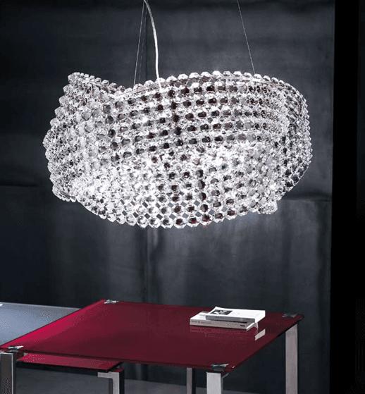 Lampadario a sospensione modello diamante