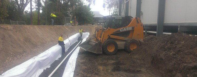 adelaide excavation services pty ltd soakage trenches