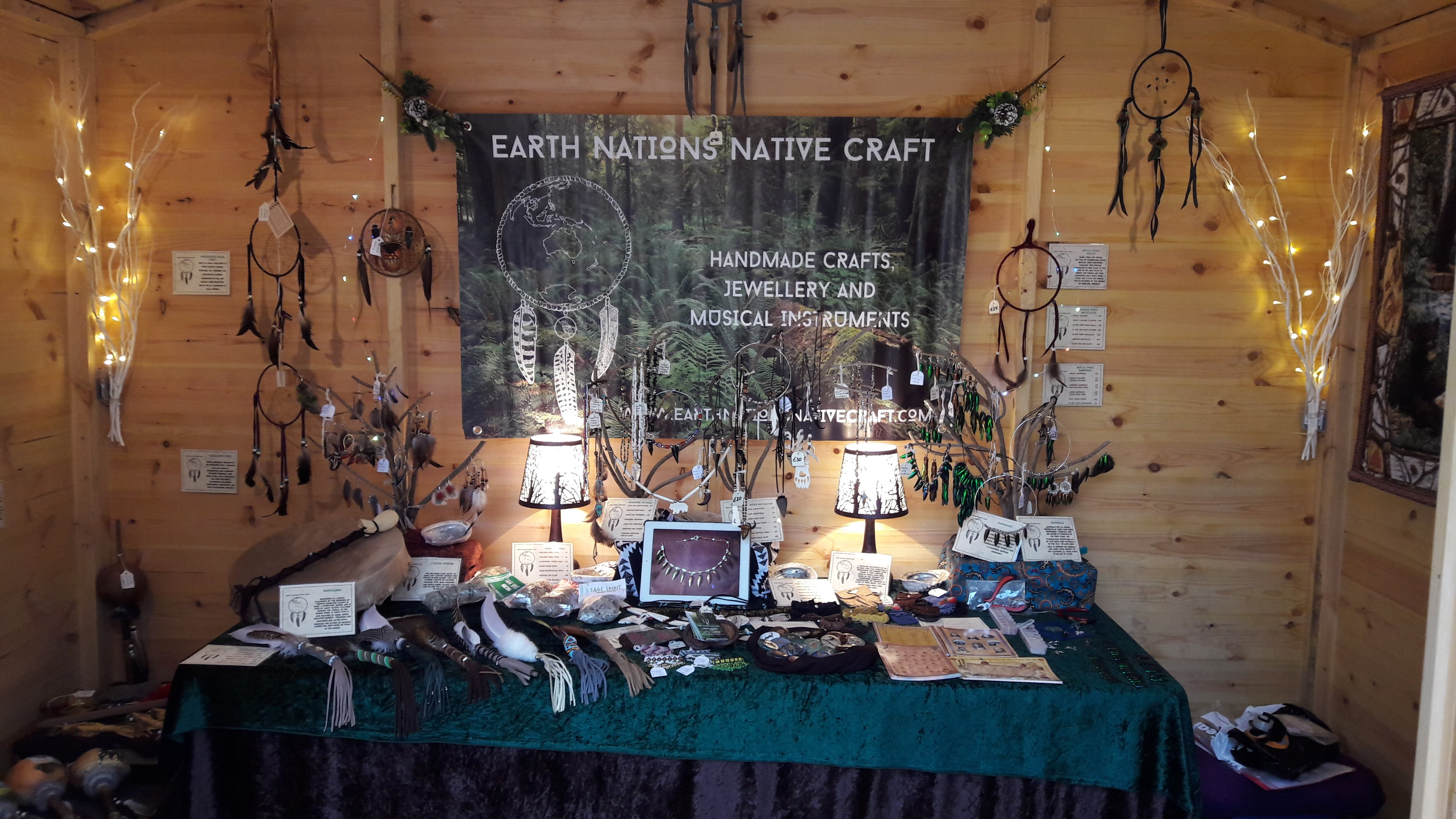 market stall craft jewellery musical instruments