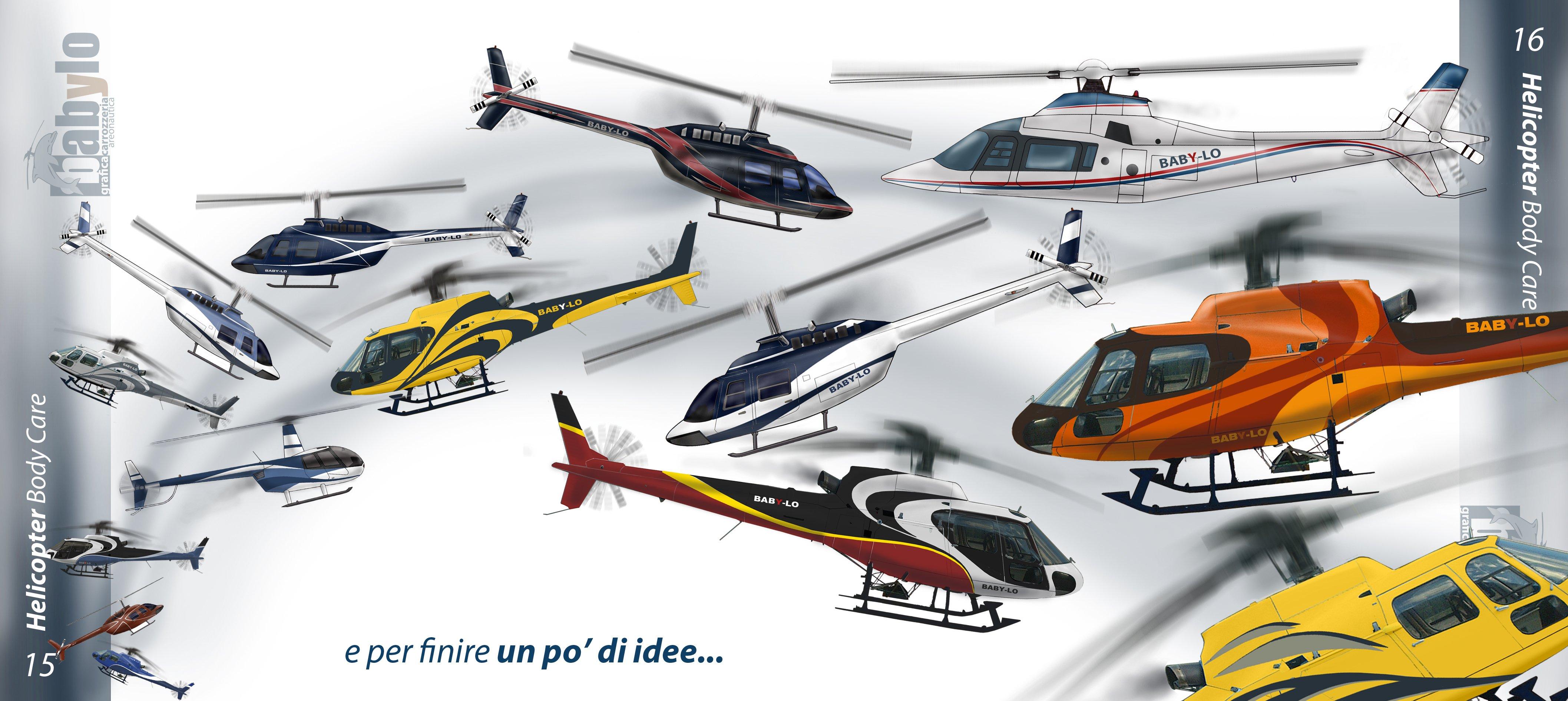 elicotteri per finire un po' di idee