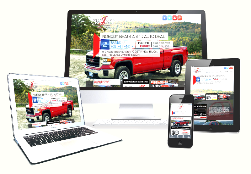 Multi-screen website design in Vermont
