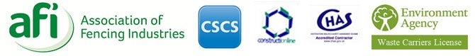 AFI, CSCS, CHAS, Environment Agency logo