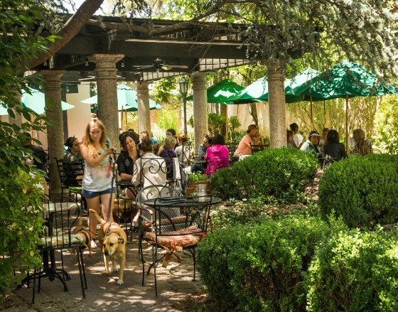 Outdoor Dining At The Secret Garden Cafe