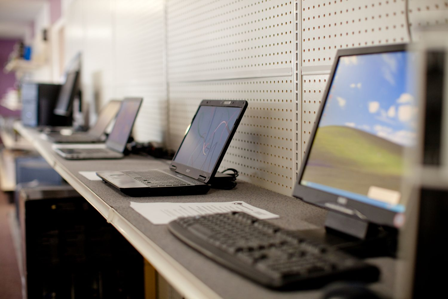 A selection of the laptops we offer in our store