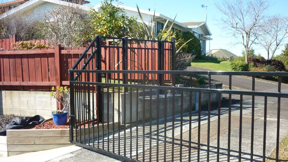 Newly installed fabricated fence
