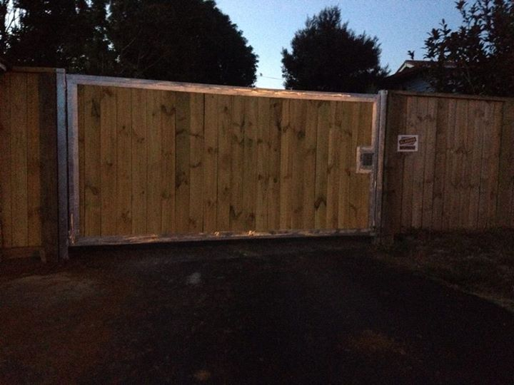 Newly fabricated and installed  gates