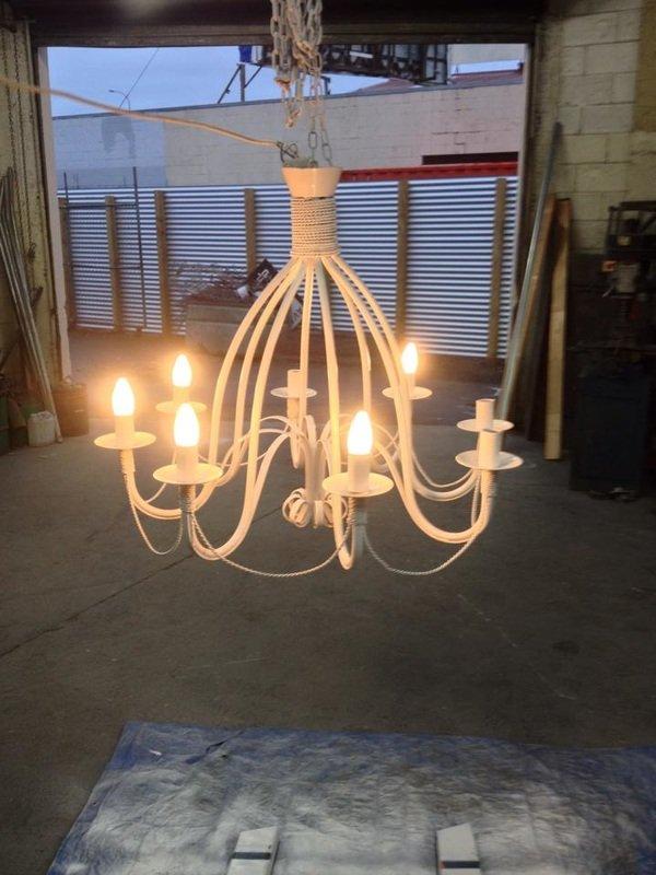Instaled chandelier
