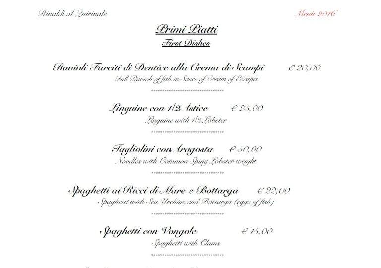 ristorante rinaldi quirinale roma