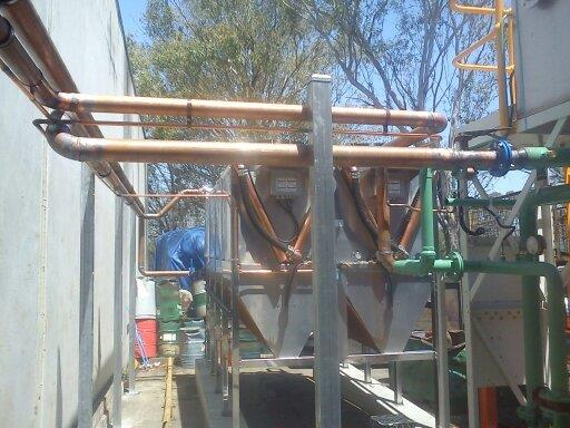 View of plumbing work in progress by reliable professional
