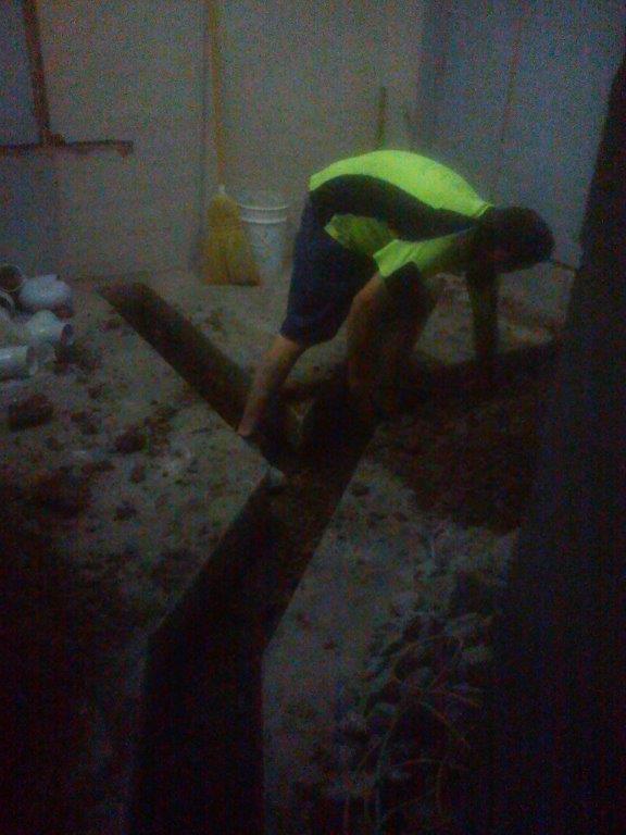 Plumbing work in progress