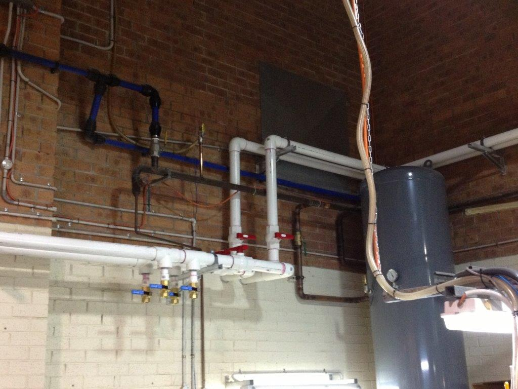 View of the plumbing work done by professionals