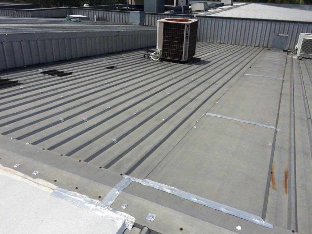 View of the pipe on the roof installed by expert