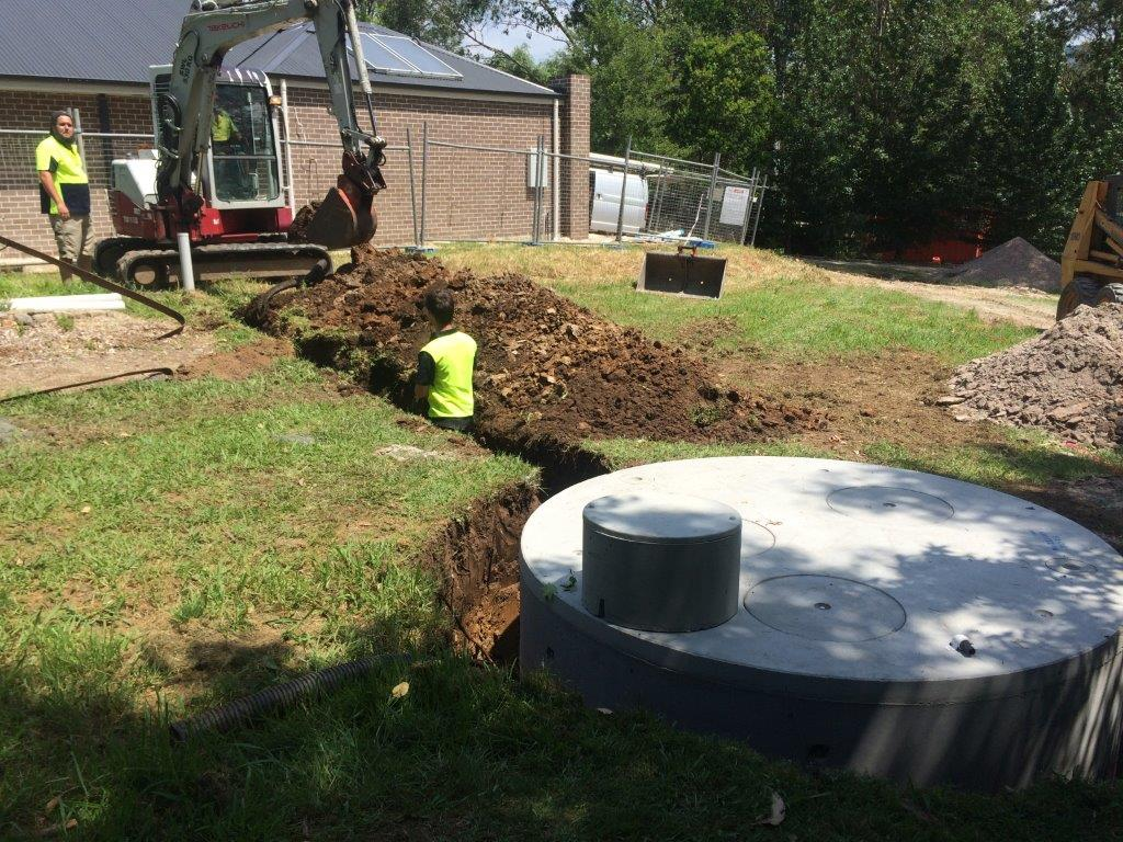 Septic tank installed by expert
