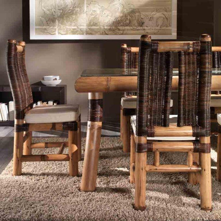 tavolo e sedie in legno patinato