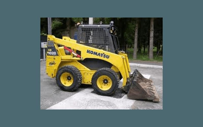 mini escavatrice gialla