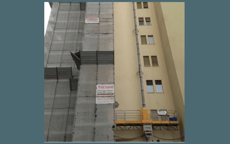 impalcatura per rifacimento facciata