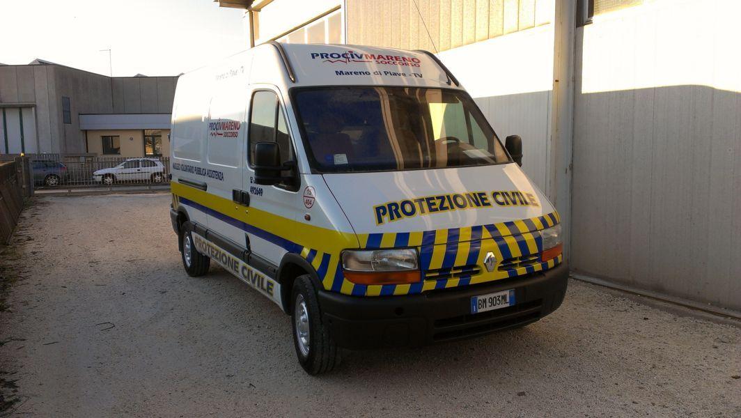 furgone protezione civile