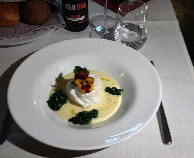 l'uovo soffice su fonduta di Casolet